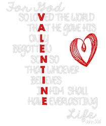 Valentine Verse embroidery design