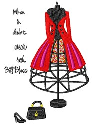 Wear Red embroidery design
