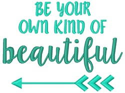 Be Beautiful embroidery design