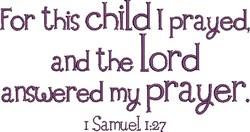 Answered Prayer embroidery design