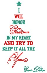 Honor Christmas embroidery design