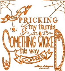 Something Wicked embroidery design
