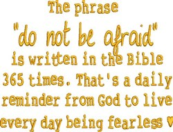 Do Not Be Afraid embroidery design