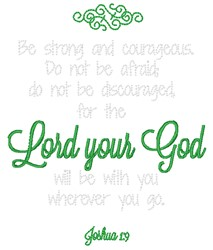 Lord Your God embroidery design