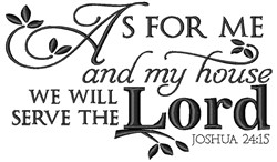 Serve The Lord embroidery design