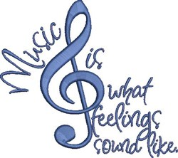 Music Is Feelings embroidery design