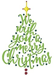 A Merry Christmas embroidery design