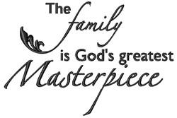 Gods Masterpiece embroidery design