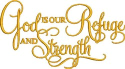 Refuge And Strength embroidery design