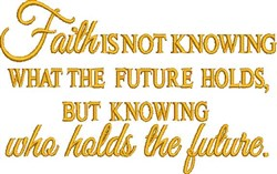 What Future Holds embroidery design