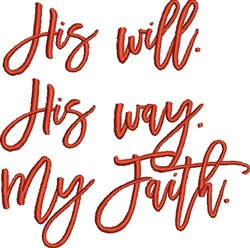 His Will embroidery design