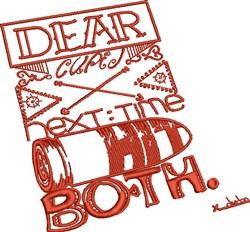 Dear Cupid embroidery design