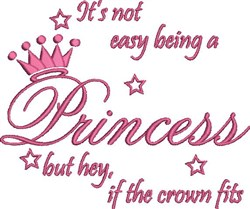Being A Princess embroidery design