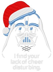 Darth Santa embroidery design