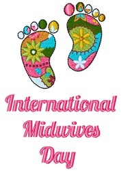 Midwives Day embroidery design