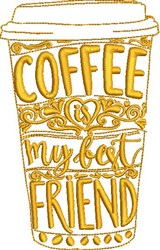 Coffee Is Friend embroidery design