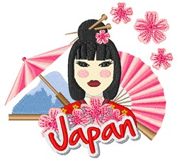 Japan Lady embroidery design