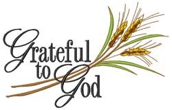 Grateful To God embroidery design