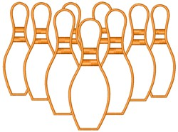 Bowling Pins embroidery design