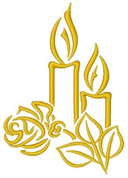 Romantic Candles embroidery design