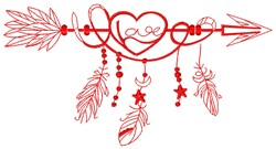 Love Arrow embroidery design