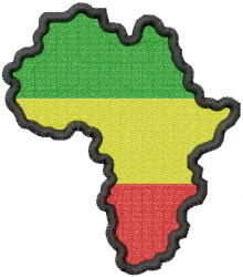 African Continent embroidery design