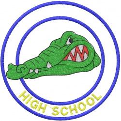 GATOR HEAD 1 – DOUBLE CIRCLE – HIGH SCHOOL embroidery design