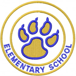 PAW PRINT 5 – DOUBLE CIRCLES – ELEMENTARY SCHOOL embroidery design