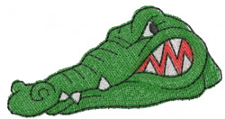 Alligator Head embroidery design