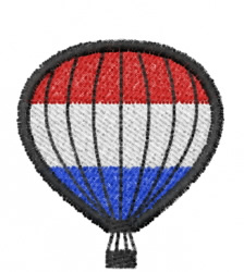 Red, White And Blue Balloon embroidery design