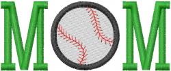 BASEBALL MOM 3 embroidery design
