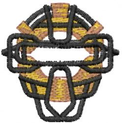 Baseball Mask embroidery design