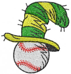 Baseball with Hat embroidery design