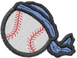 Baseball with Bandana embroidery design