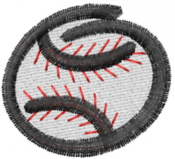 Swoosh Baseball embroidery design
