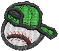 Baseball with Cap embroidery design