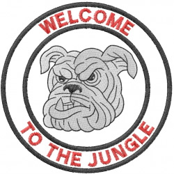 BULLDOG HEAD 4 – WELCOME TO THE JUNGLE – DBL CRCL embroidery design