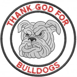 BULLDOG HEAD 4 – THANK GOD FOR BULLDOGS – DBL CRCL embroidery design