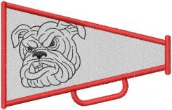 BULLDOG HEAD 4 – MEGAPHONE 1 embroidery design