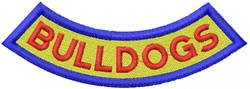 BULLDOGS LETTERING – ARC BANNER FILLED embroidery design