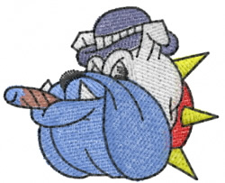 Bulldog 1 embroidery design
