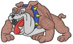 Bulldog 5 embroidery design