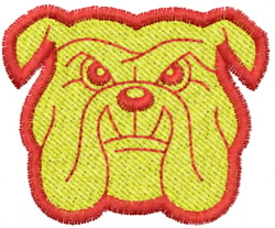 Bulldog 6 embroidery design