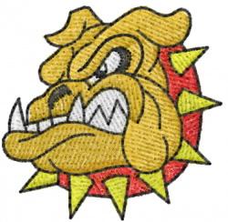 Bulldog 7 embroidery design