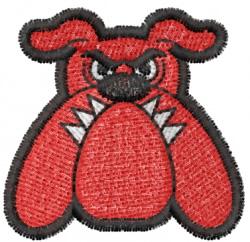 Bulldog 8 embroidery design
