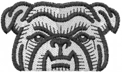 Bulldog 15 embroidery design