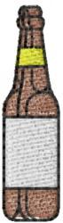Beer Bottle embroidery design