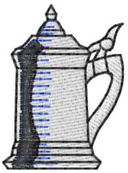 Beer Stein embroidery design