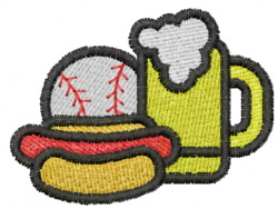 Ballpark Food embroidery design