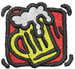 Beer Mug Square embroidery design